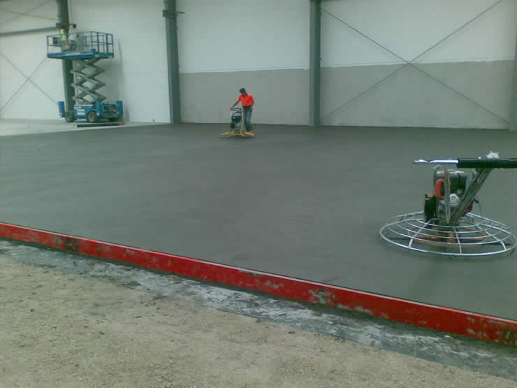 Power Trowell normal class concrete