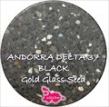 Andorra Delta 37 Black with Gold Glass Seed