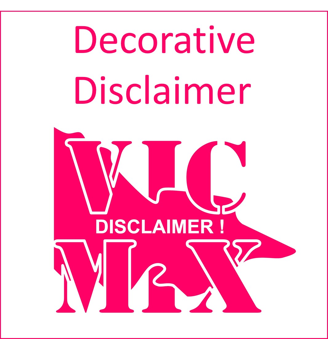 Decorative Disclaimer