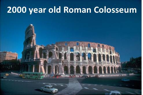 2000 year old Roman colosseum